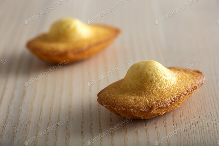 Two French madeleine