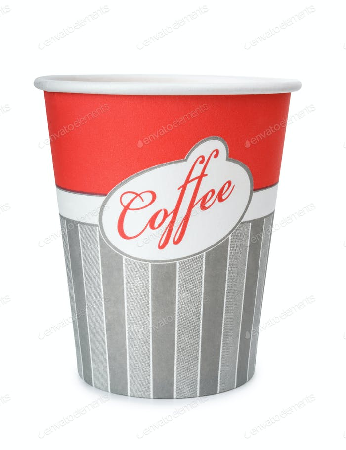 Disposable take out paper coffee cup
