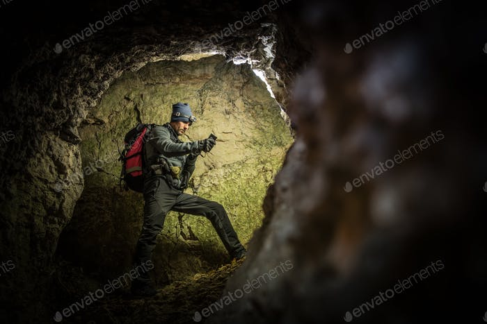 Deep Cave Exploration by Men