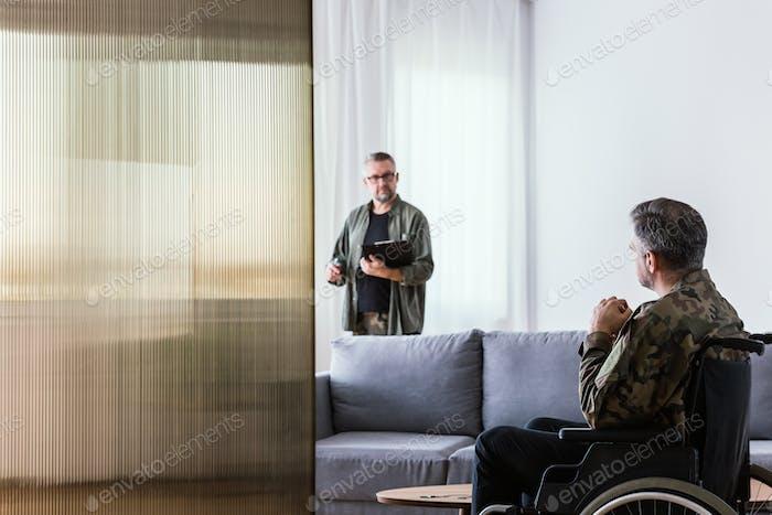 Auf Psychotherapie-Sitzung