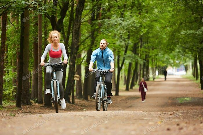 Radfahren im Park