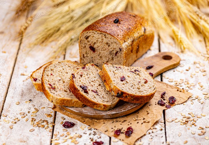Cranberry bread loaf