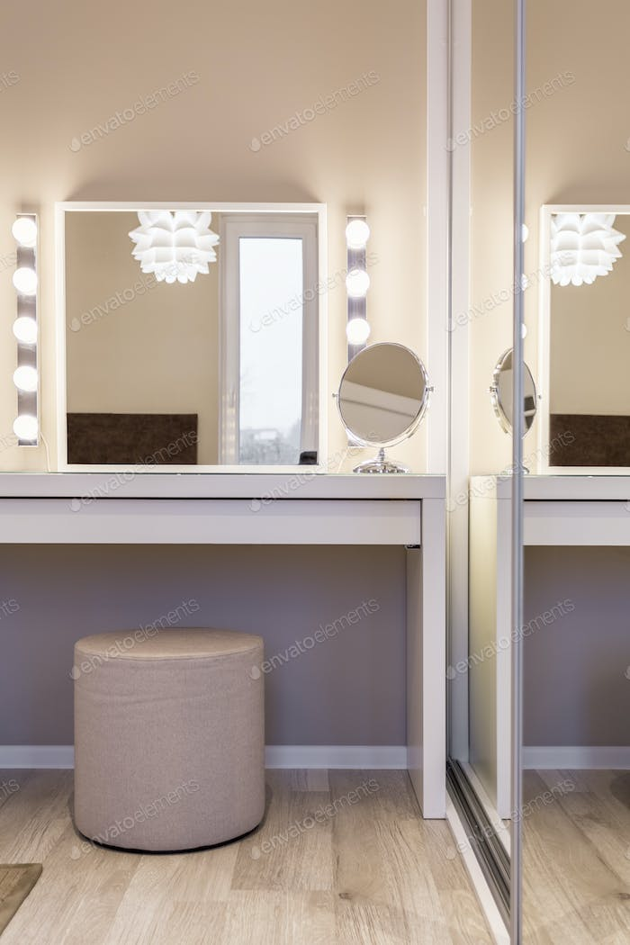 Cozy dressing table
