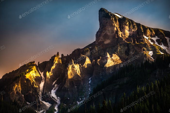 Precipice Peak at Sunset