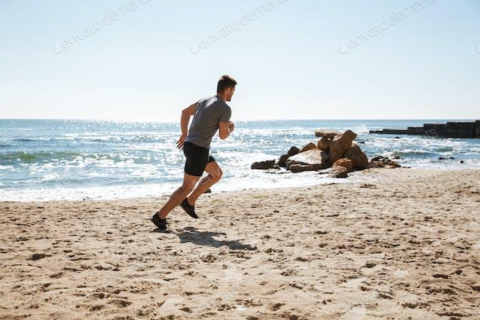 Gesunde junge Sportler Joggen