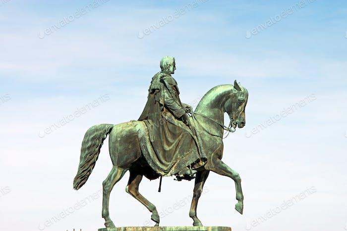 König Johann von Sachsen Statue