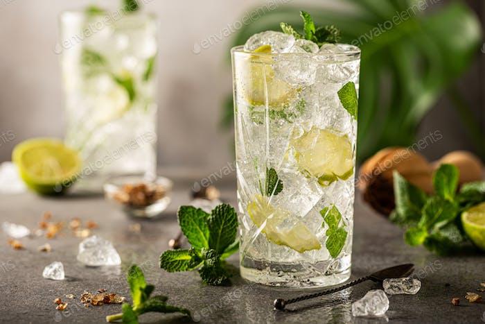 Refreshing summer homemade cocktail