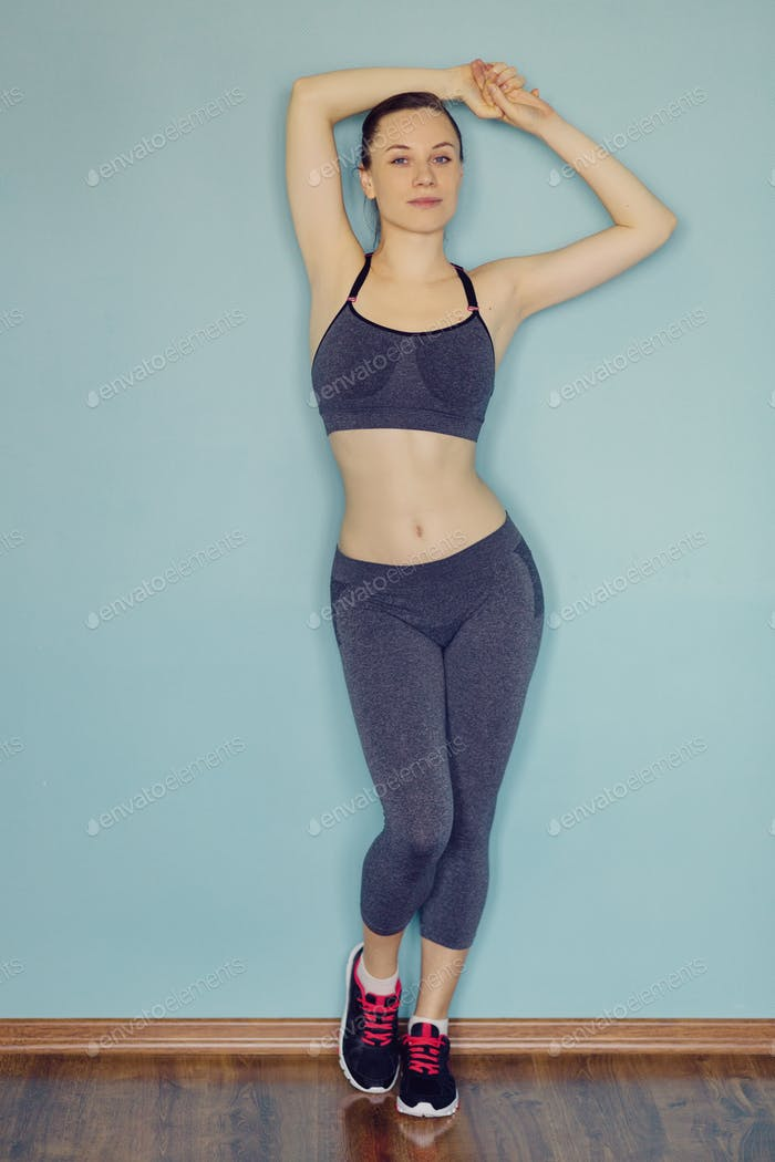 Young woman in sportswear