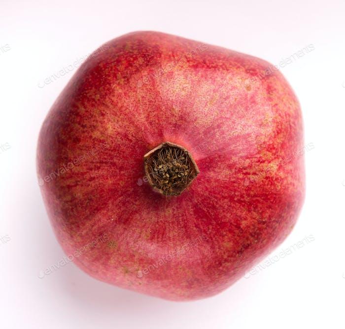 Pomegranate isolated on white