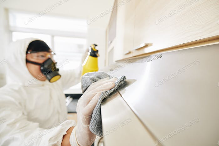 Service Arbeiter Reinigung Möbel