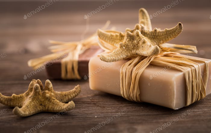 Bars of handmade soap