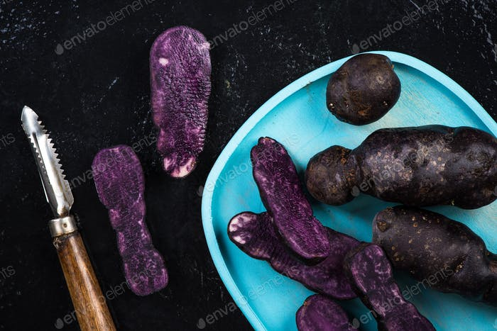 Culinary trends, purple potatoes