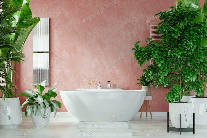 Modern Bathroom interior design.
