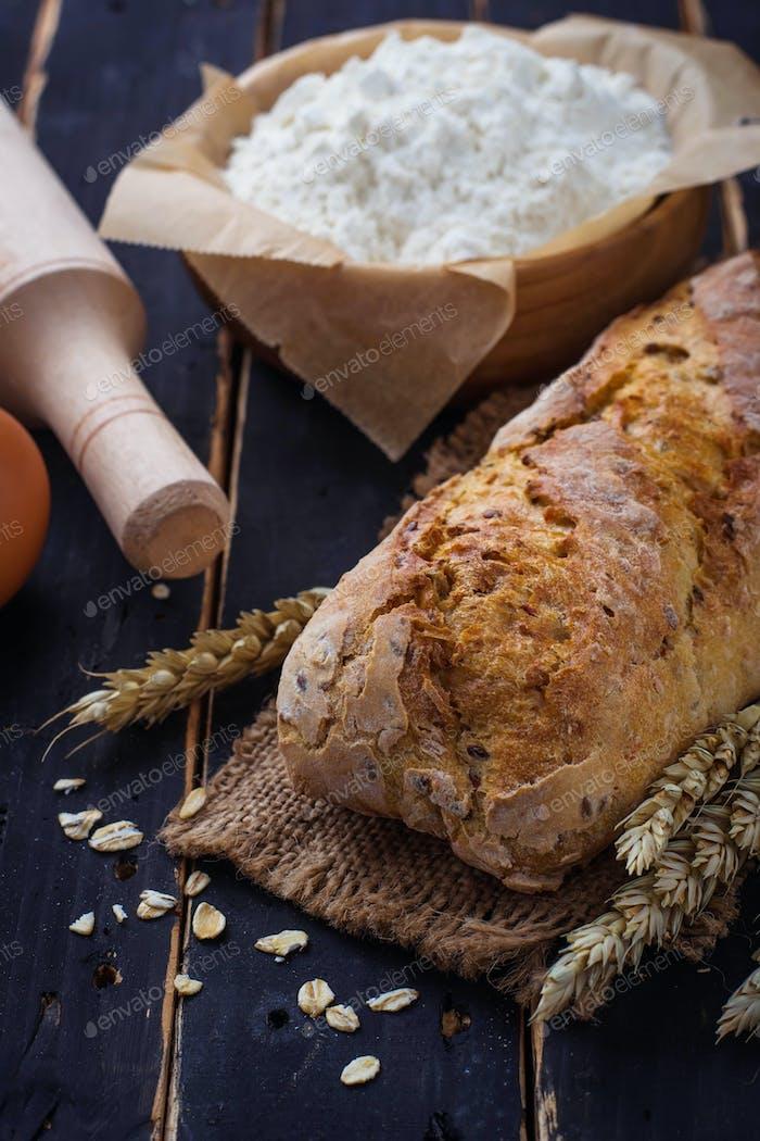 Brot, Ährchen und Backzutaten