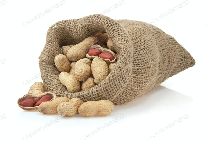 nuts peanuts isolated on white