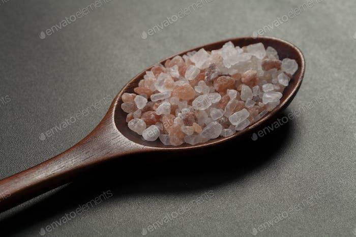 Salt in Wood Spoon