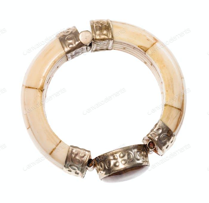 Antikes Kamelknochen Armband mit Steineinsatz