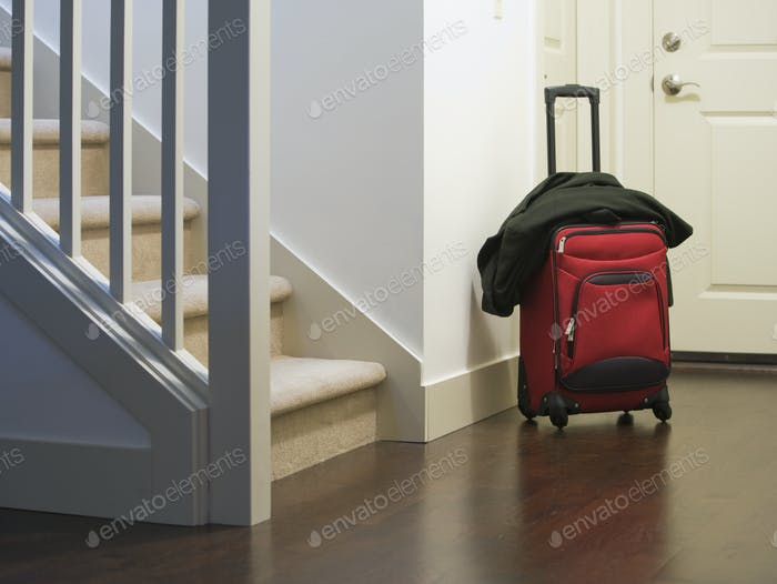 Rolling Luggage at the Front Door