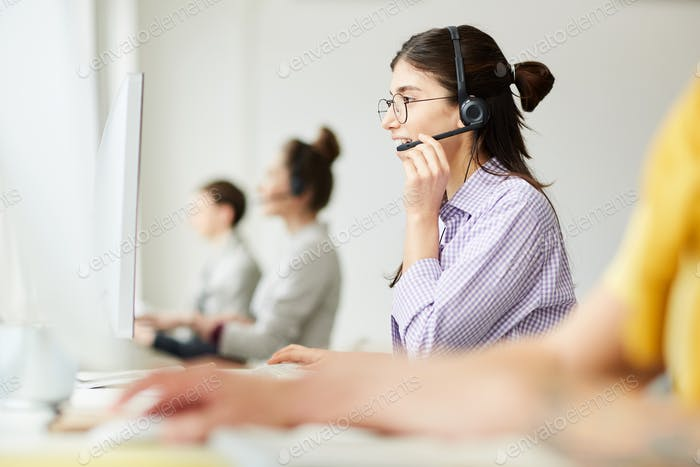 Cheerful Hotline Operator