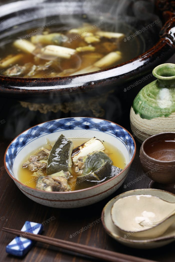 suppon nabe, japanese cuisine