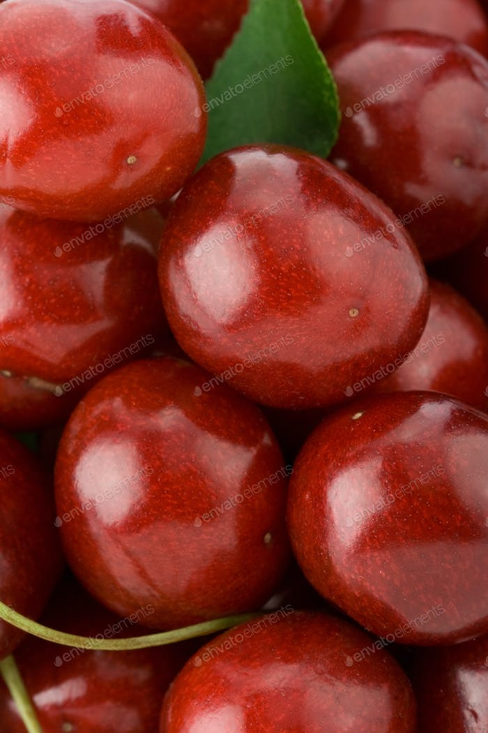 sweet cherry as background