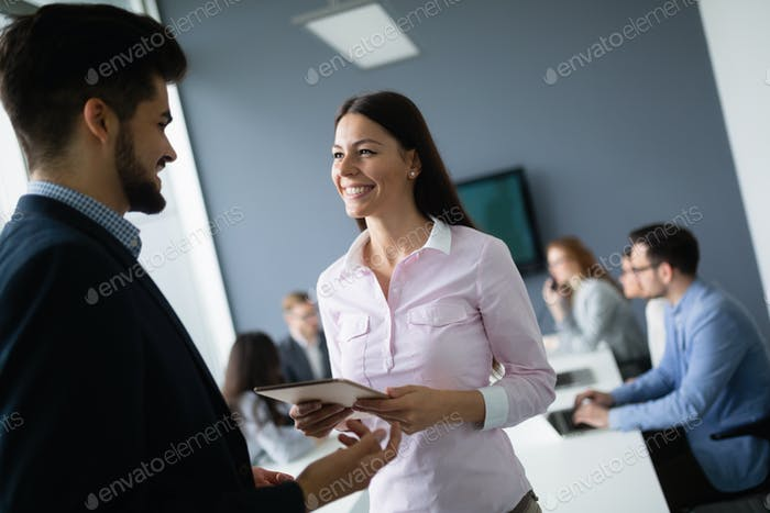 Business people working at modern business office