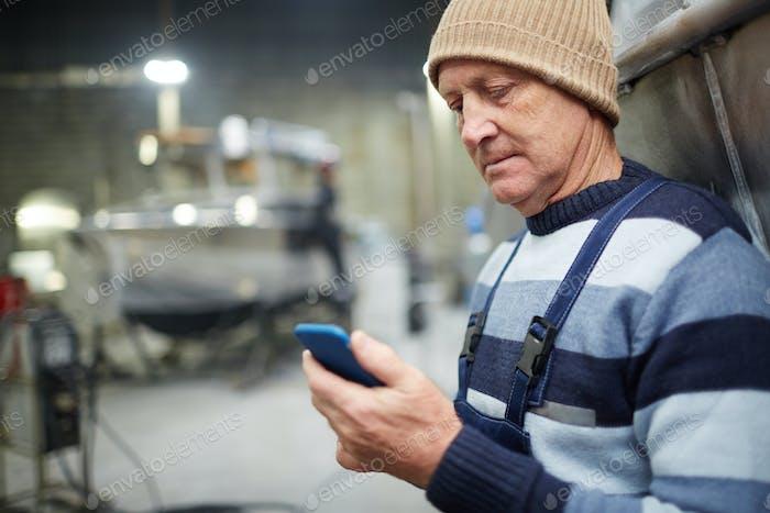 Messaging at break