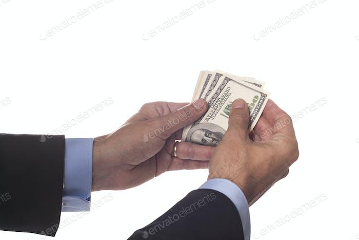 Dollar-Banknoten zählen