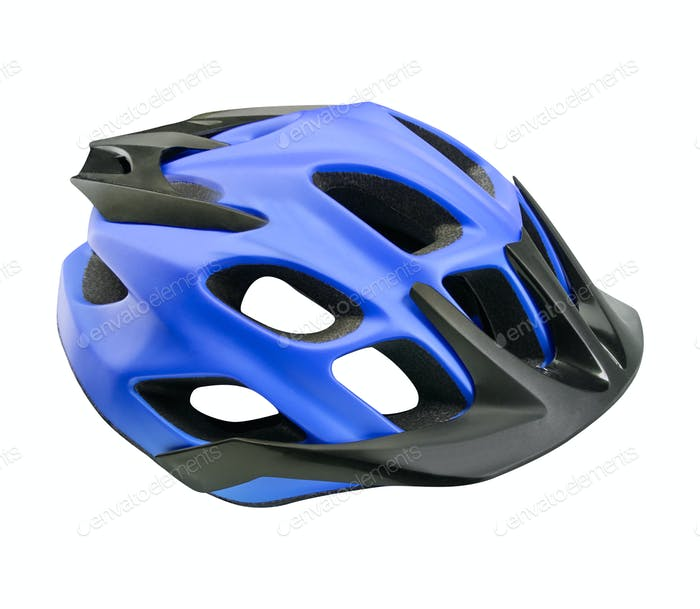 mountain bike helmet isolated