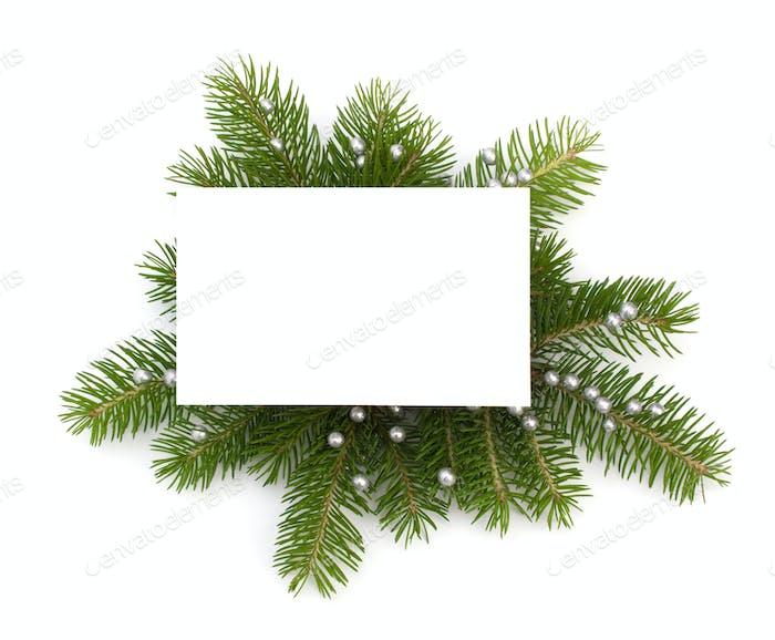 Weihnachtsdekoration mit Grußkarte