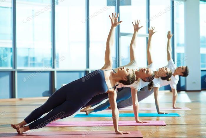 Exercising on mats