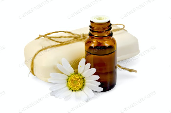 Oil and soap white with chamomile