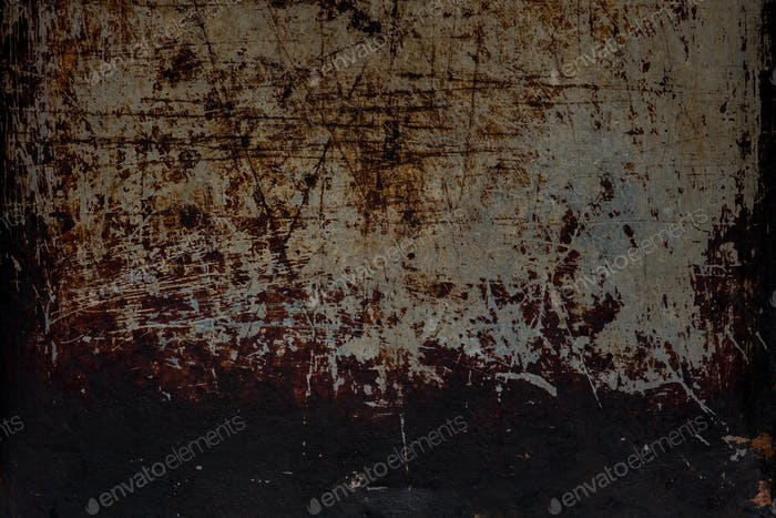 Heavy worn metal plate background