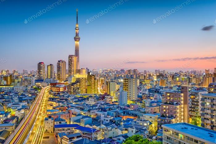 Tokio, Japan Skyline
