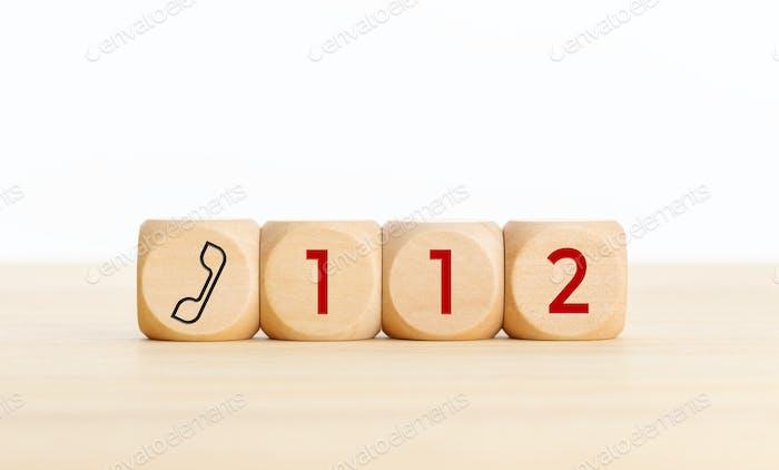 112 emergency concept