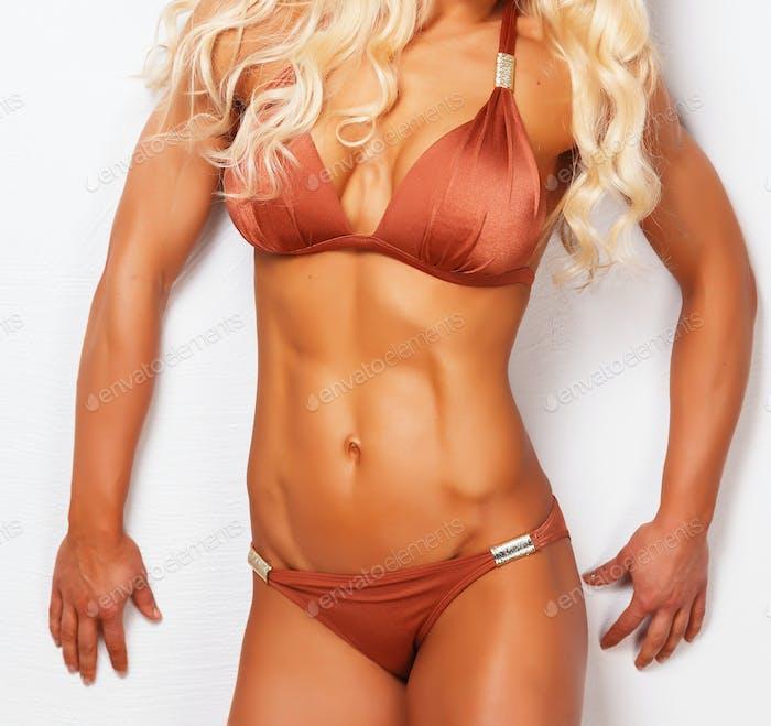 Sportlich schöne weibliche