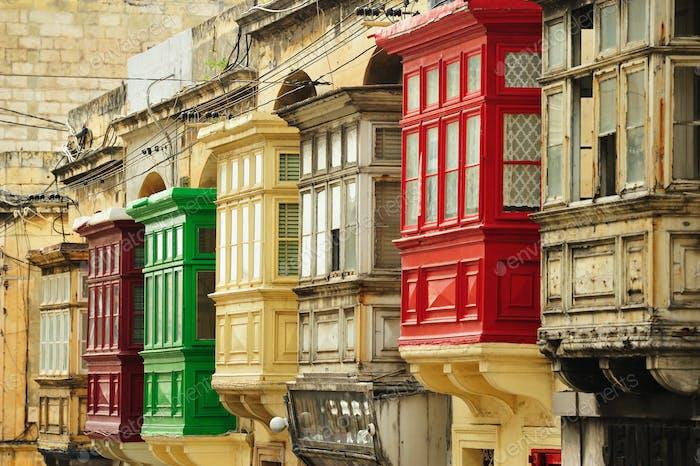 Balconies in Malta