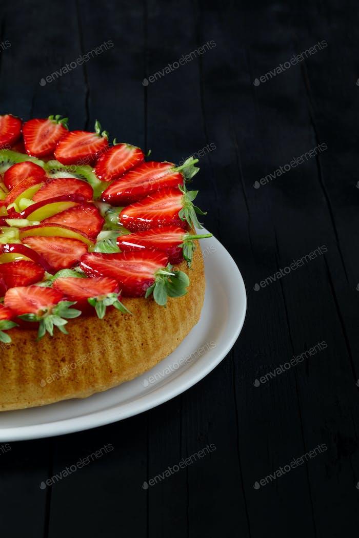 Pastel de frutas frescas