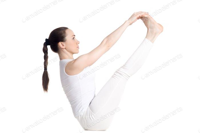 Both big toe yoga pose