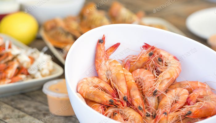 Bowl Of Prawns