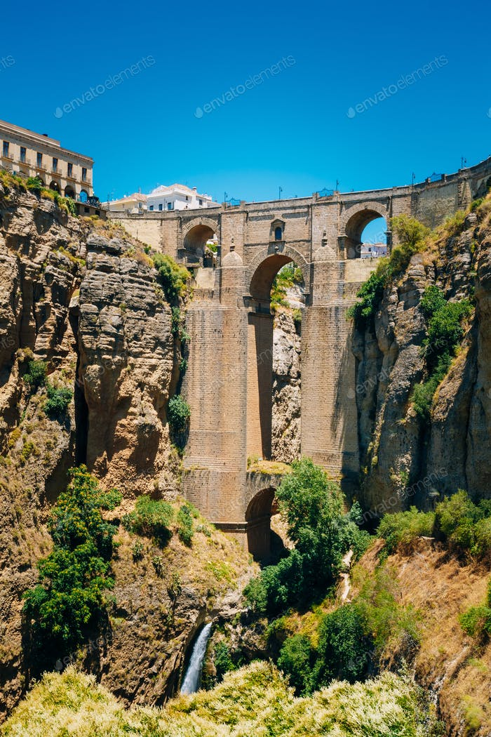 The New Bridge (Puente Nuevo) in Ronda, Province Of Malaga, Spai
