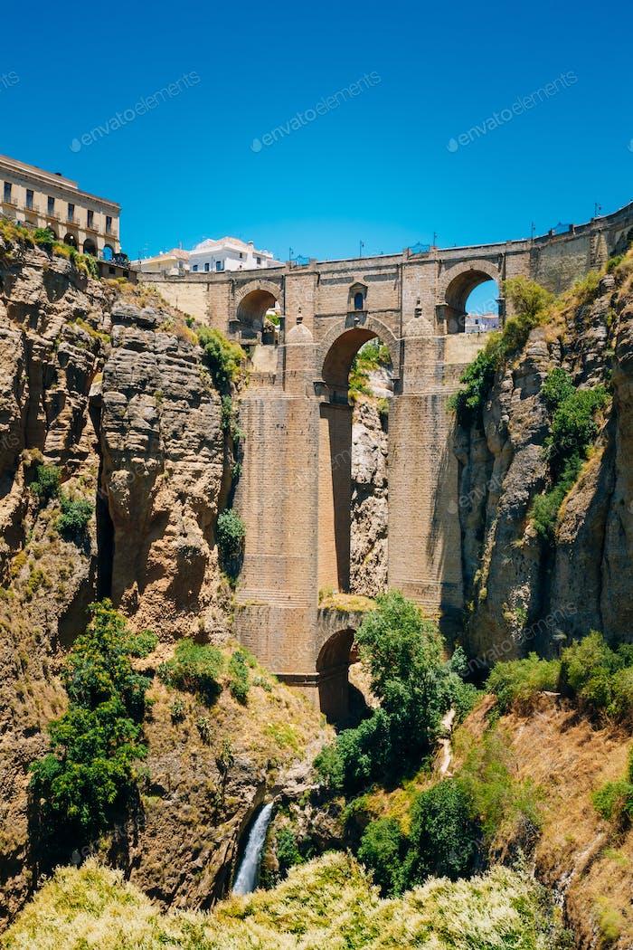 The New Bridge (Puente Nuevo) in Ronda, Province Of Malaga, Spai