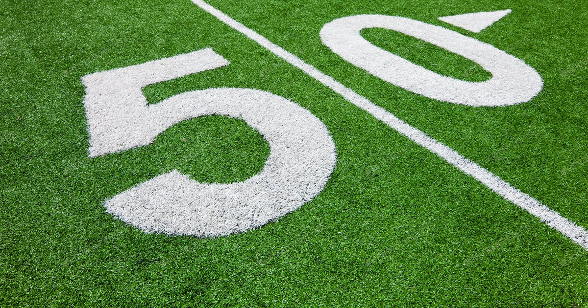 Fifty Yard Line Football Field Photo By Aetb On Envato Elements