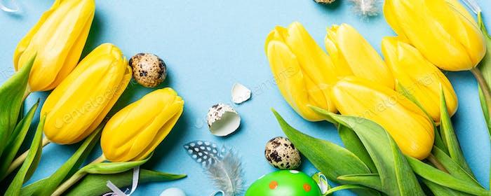Fond tulipes jaunes