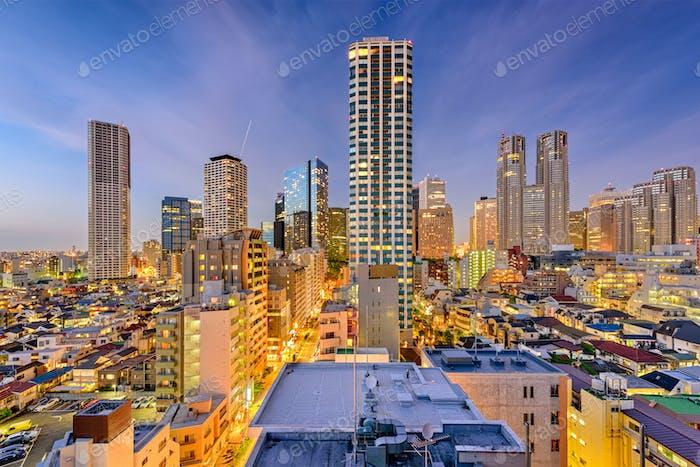 West Shinjuku, Tokyo Skyline