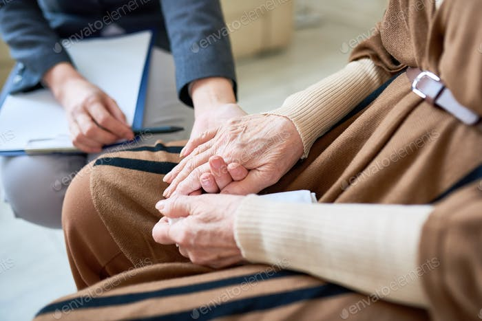 Psychologist Helping Senior Patient