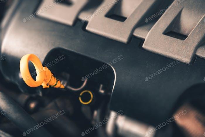 Car Engine Oil Check