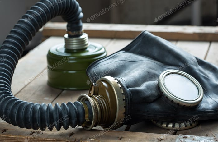 Old gas mask