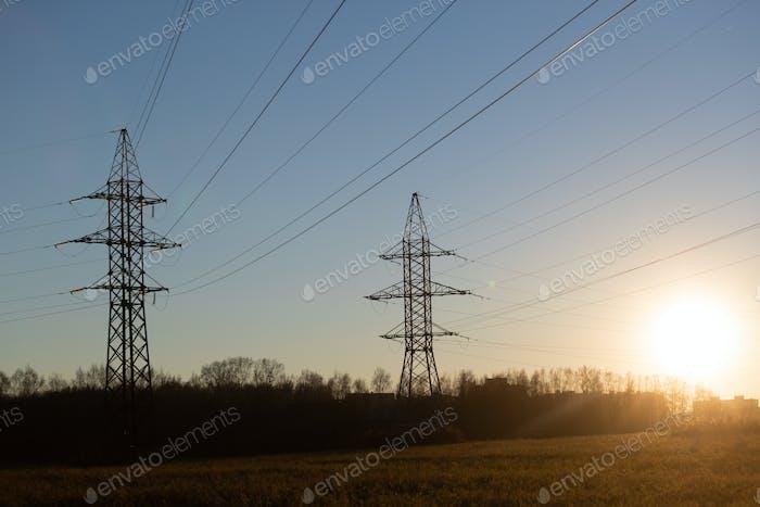 Industrielandschaft. Energietriebe