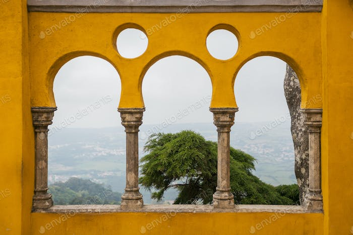 Terrace with Yellow Arches